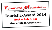 Top of the Mountains - Touristic Award 2014